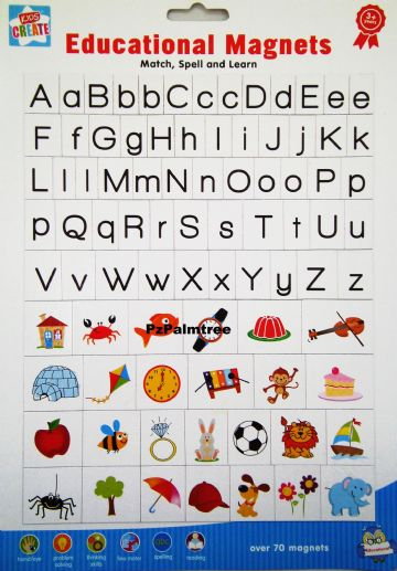 Kids Learning Educational MAGNETIC Letters & Pictures Fridge Magnets